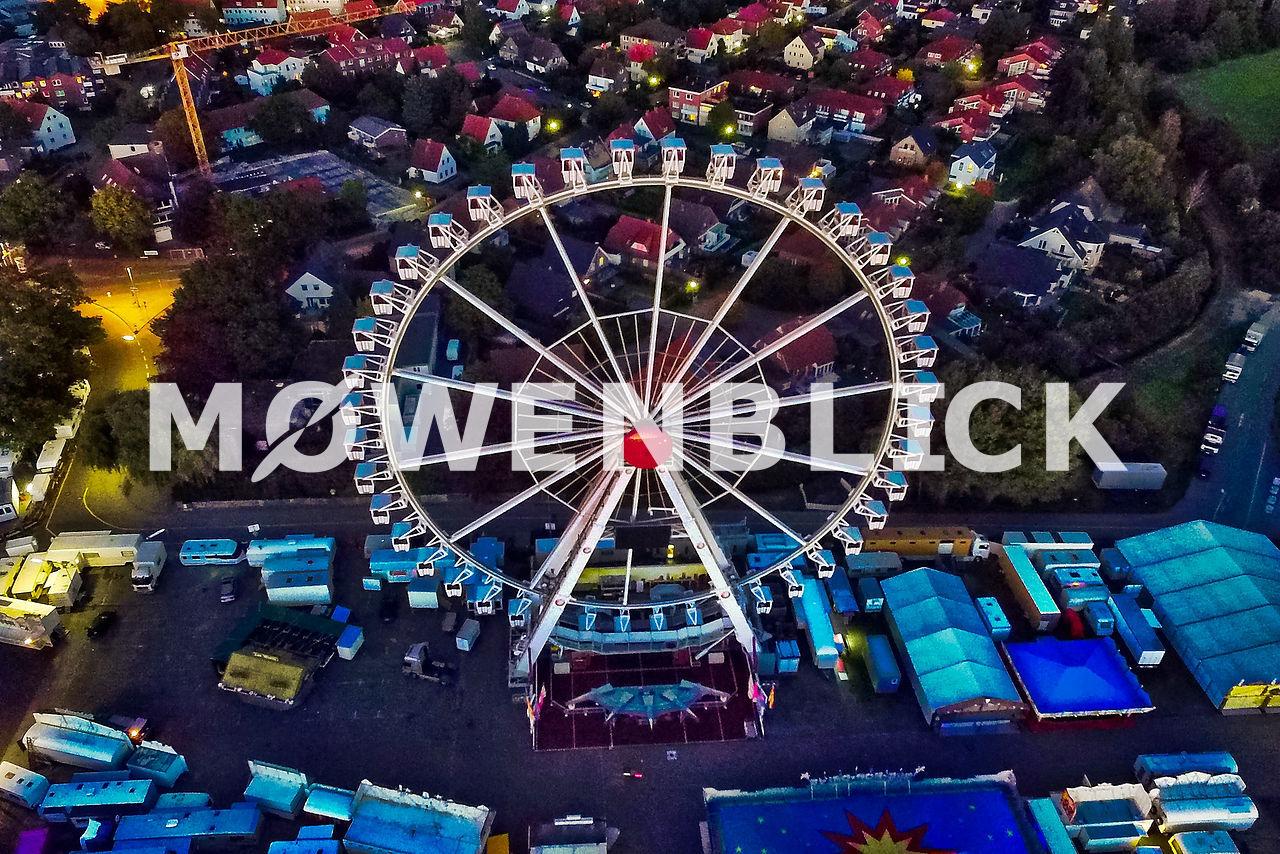 Riesenrad Kramermarkt Luftbild