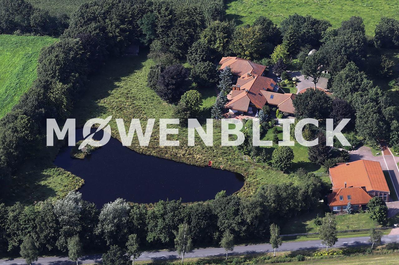 Ferienhaus am Hirschgehege Luftbild
