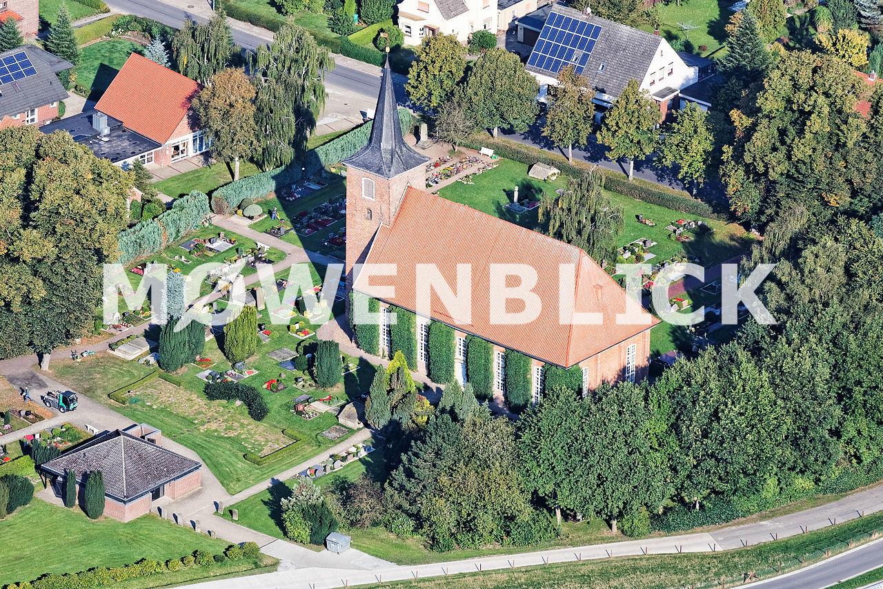 Friedenskirche Hammelwarden Luftbild