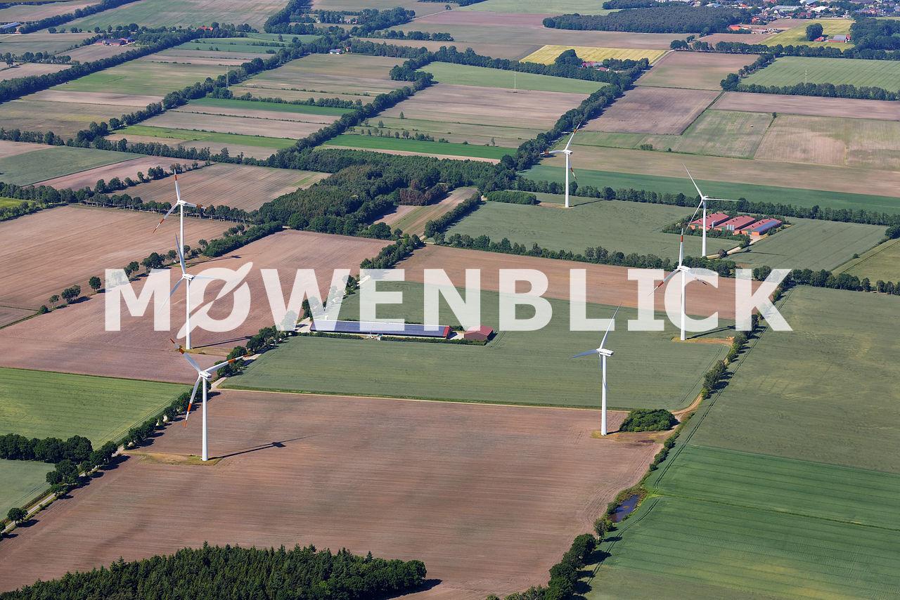 Windpark Querdamm Luftbild
