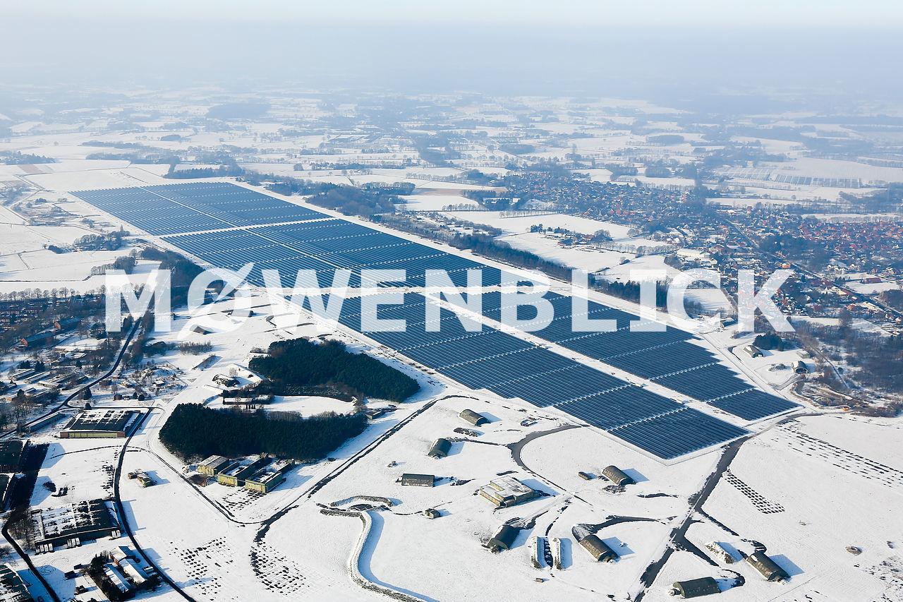 Solarpark Oldenburg Luftbild
