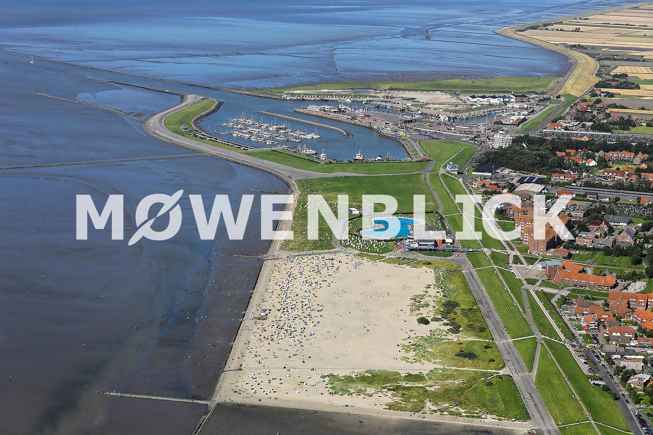 Strand Norddeich Luftbild