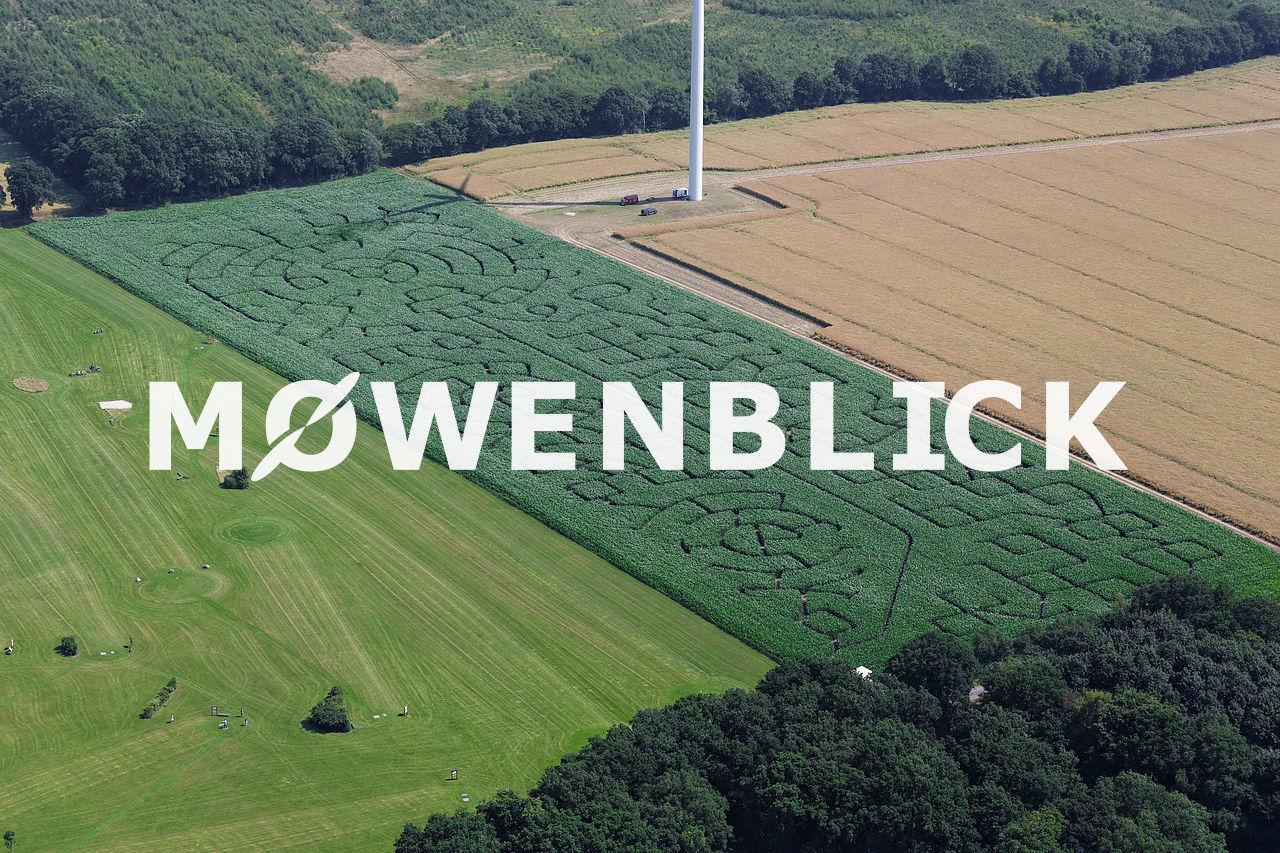 Iserloy Maislabyrinth 2015 Luftbild