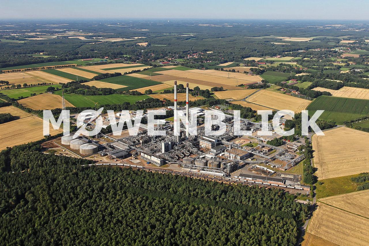 Erdgasaufbereitungsanlage Luftbild