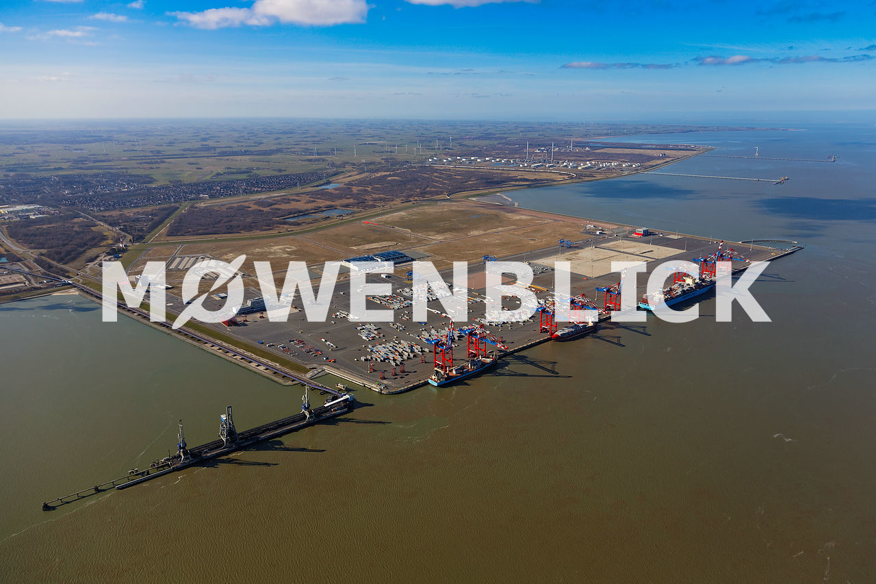 Jadeweser Port  Luftbild