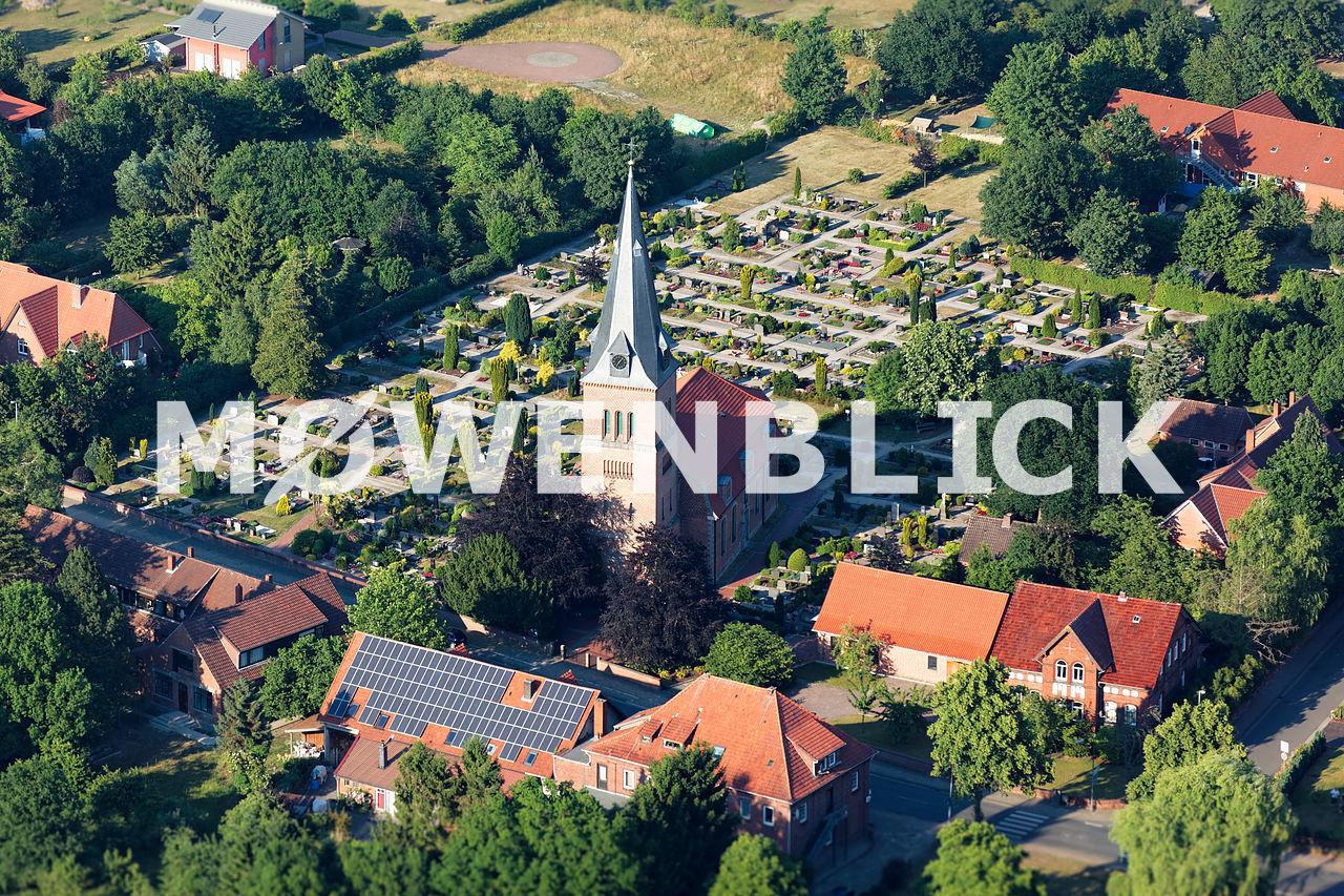 Kirche zum guten Hirten Schwarme Luftbild