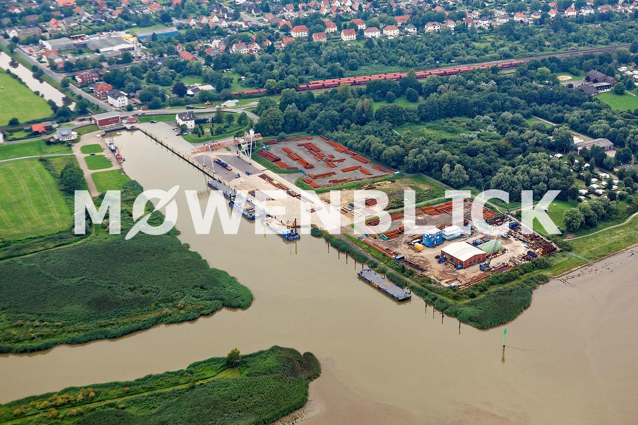 Hafen Großensiel Luftbild