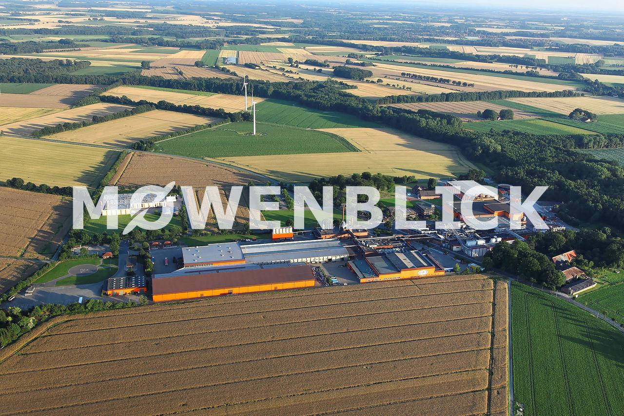 Agrarfrost Luftbild