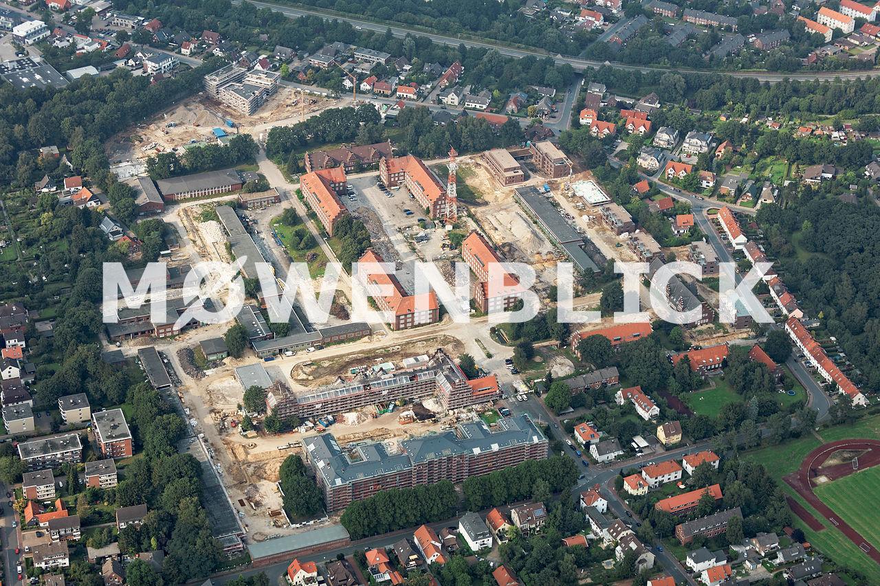 Kaserne Baustelle Donnerschwee Luftbild