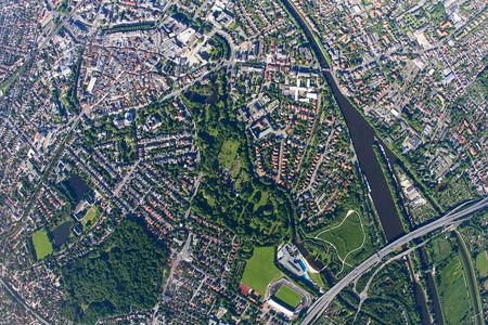 Senkrechtaufnahme Schloßgarten