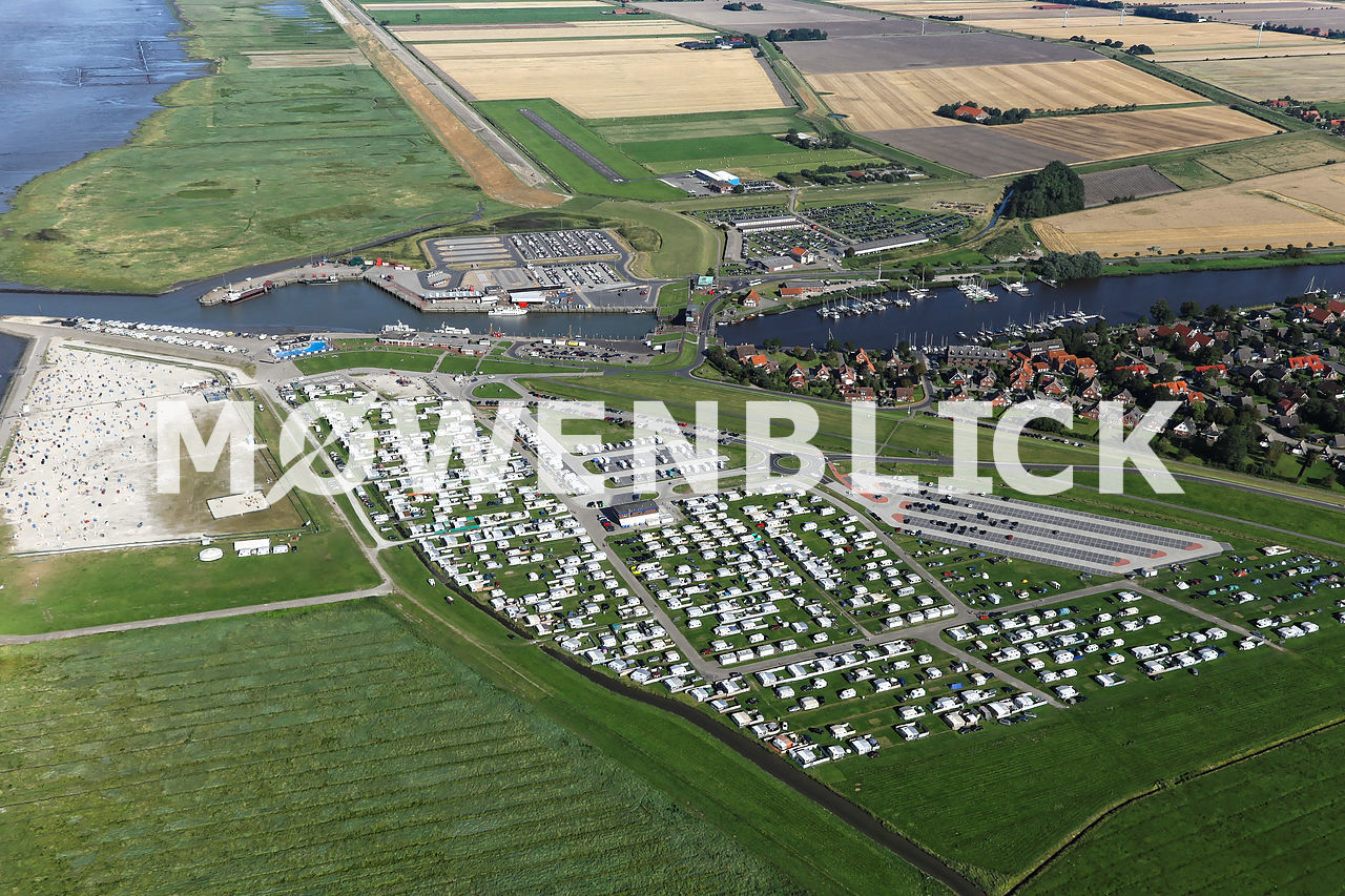 Campingplatz Harlesiel Luftbild