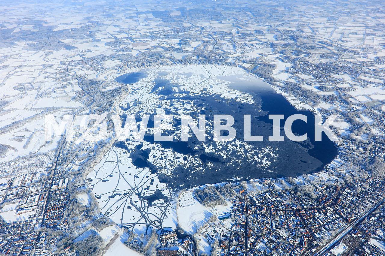 Zwischenahner Meer im Winter Luftbild