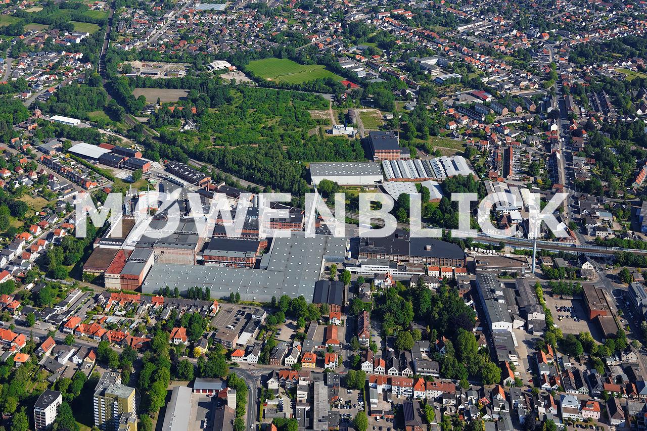 Linoleum Werke Luftbild