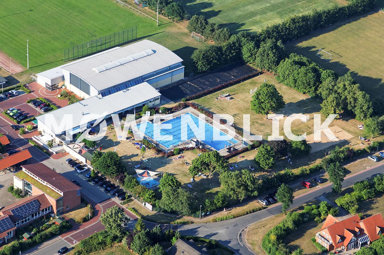 Freibad Schwarme Luftbild