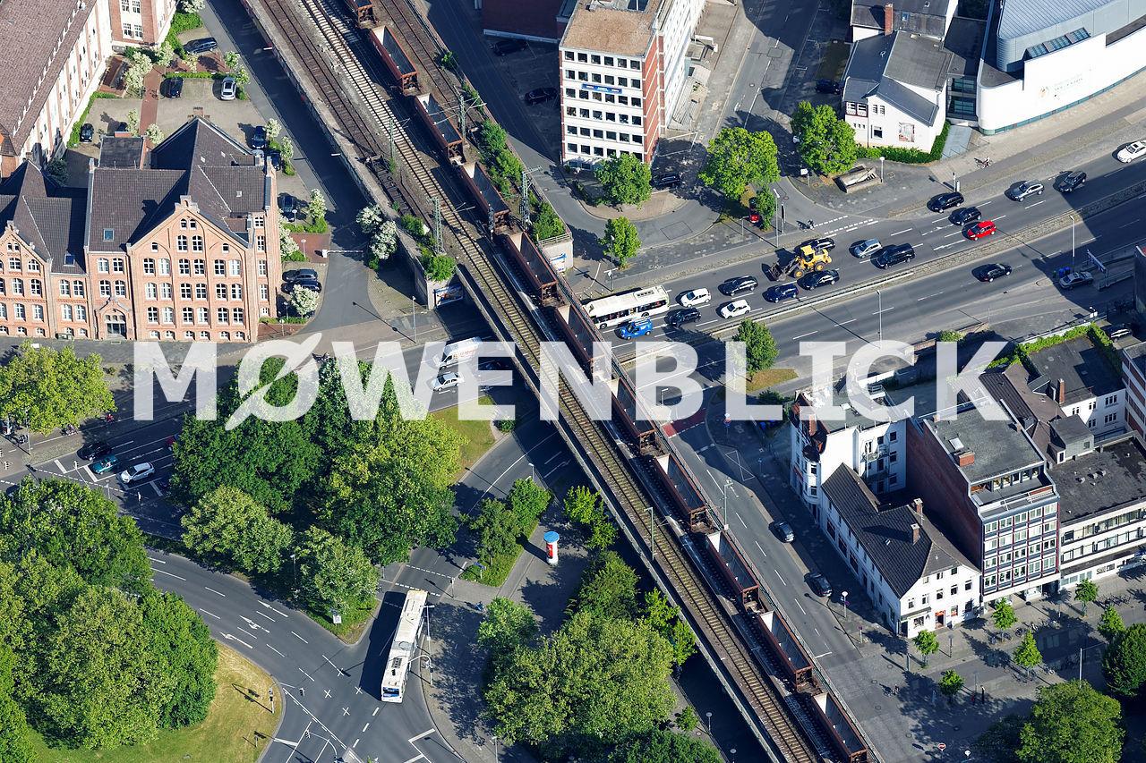 Pferdemarkt Eisenbahnbrücke Luftbild