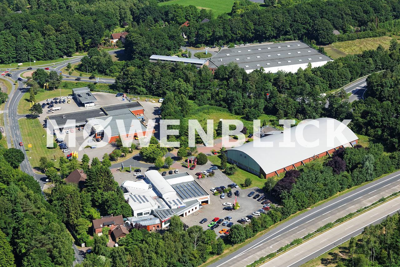Gewerbegebiet am Tennisplatz Luftbild