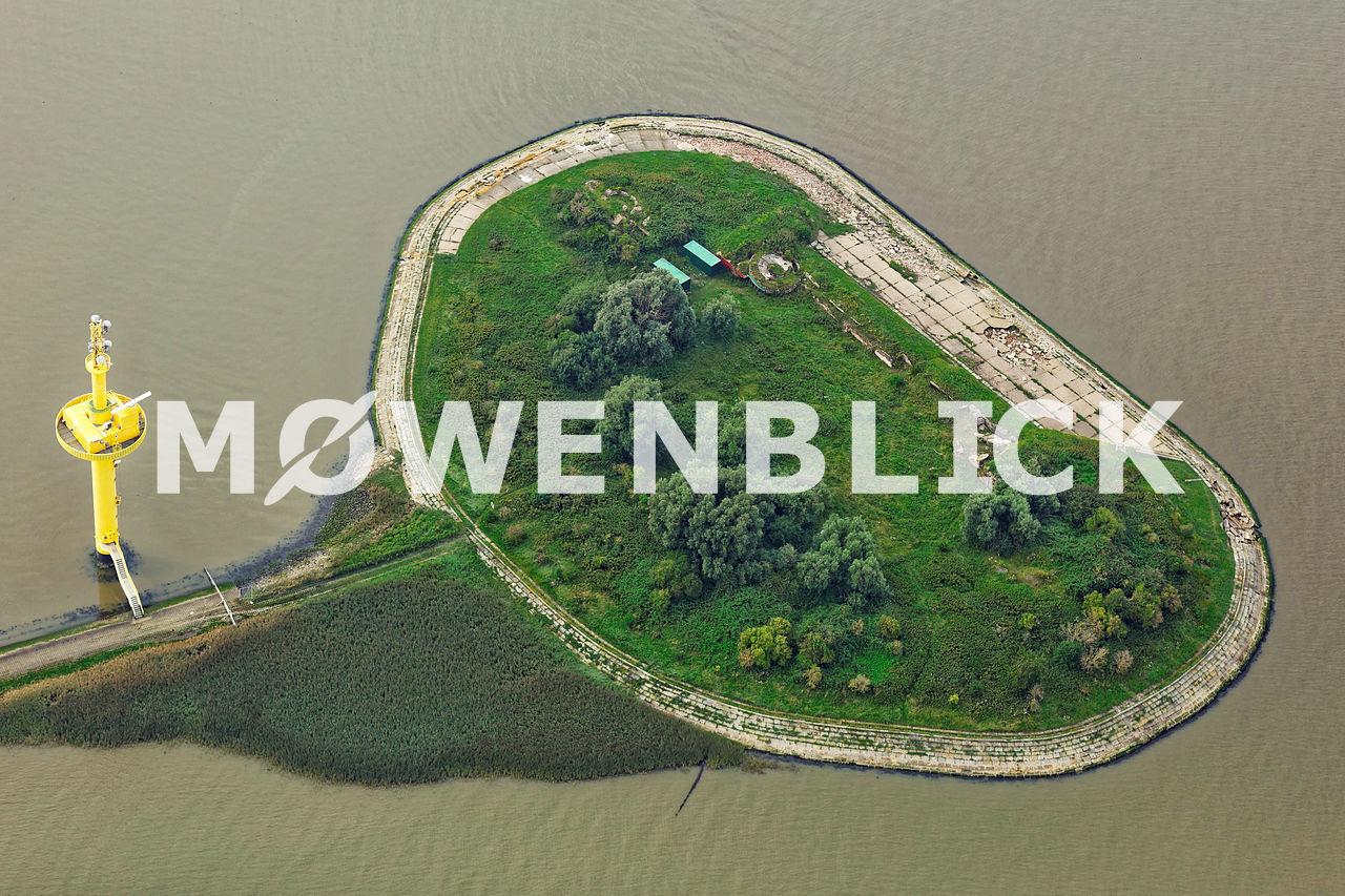 Insel Langlütjen Luftbild