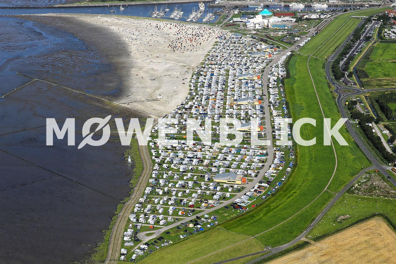 Campingplatz Bensersiel Luftbild