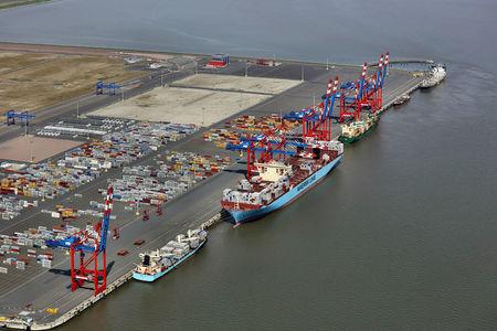 Luftbild Jade Weser Port