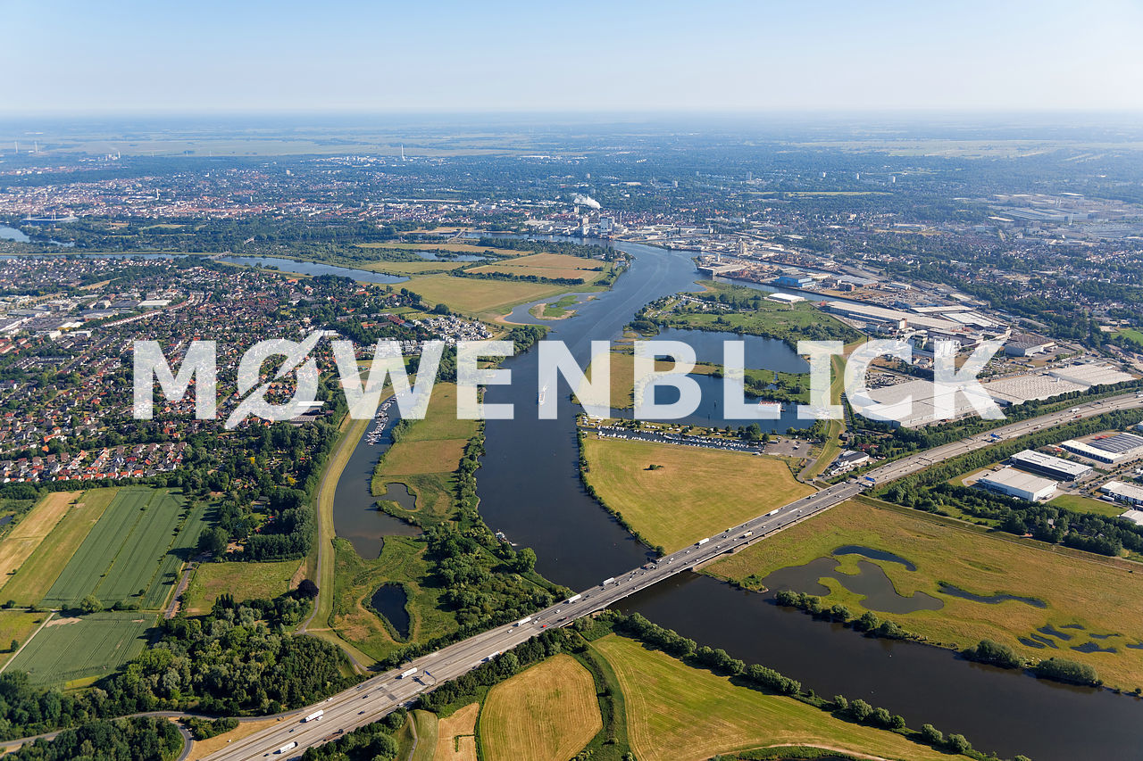 Weser Arberger Kanal Luftbild