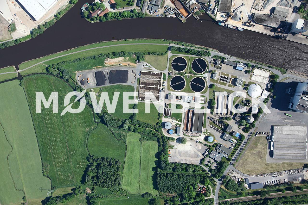 Senkrechtaufnahme Klärwerk Luftbild