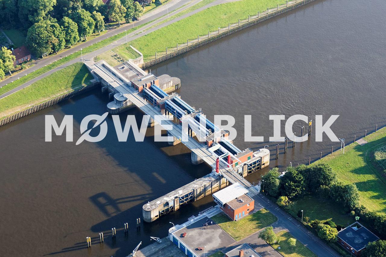 Lesumsperrwerk Luftbild