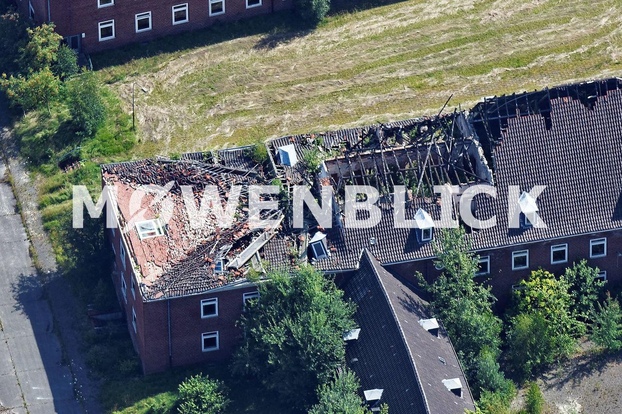 Kaserne Dacheinsturz Luftbild