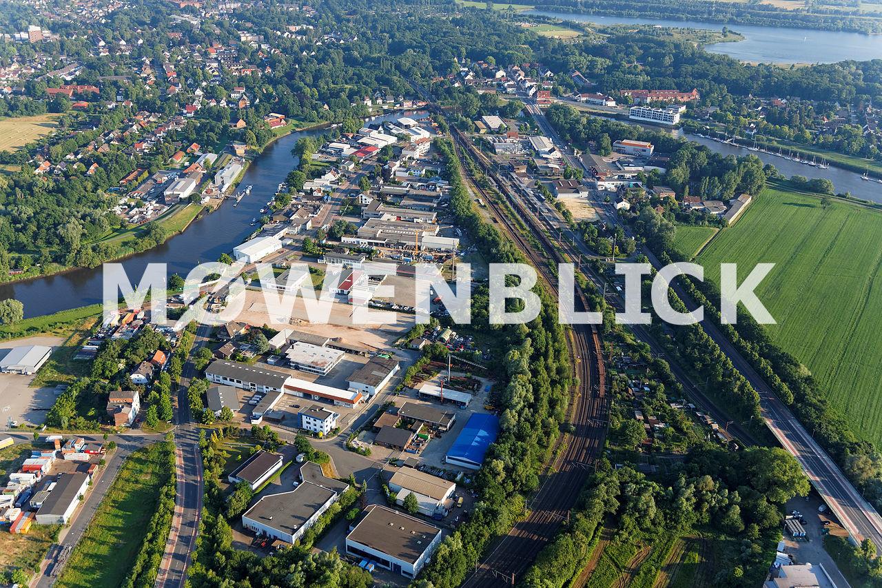 Gewerbegebiet Steindamm Luftbild