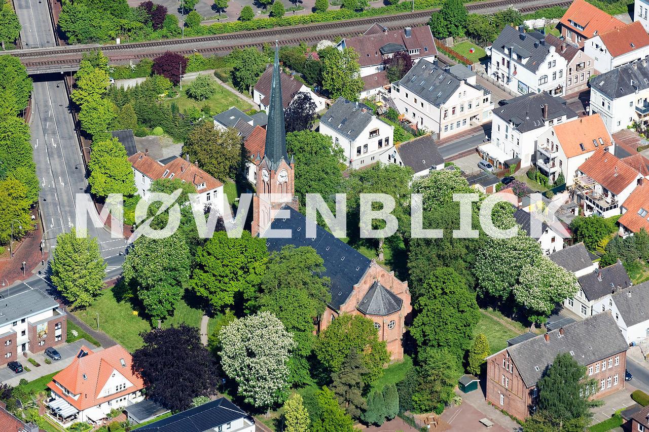 Stadtkirche Brake Luftbild
