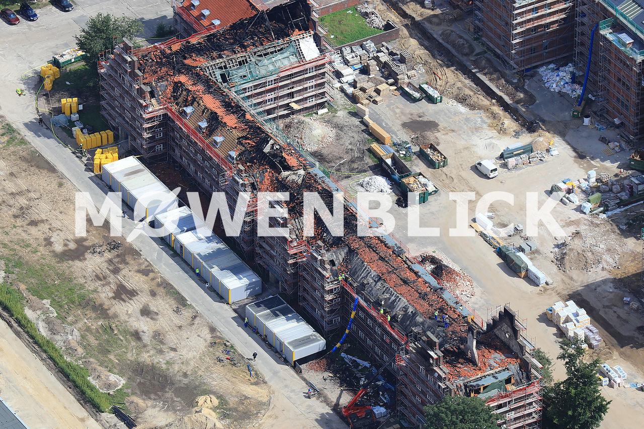 Brand Donnerschwee Kaserne Luftbild