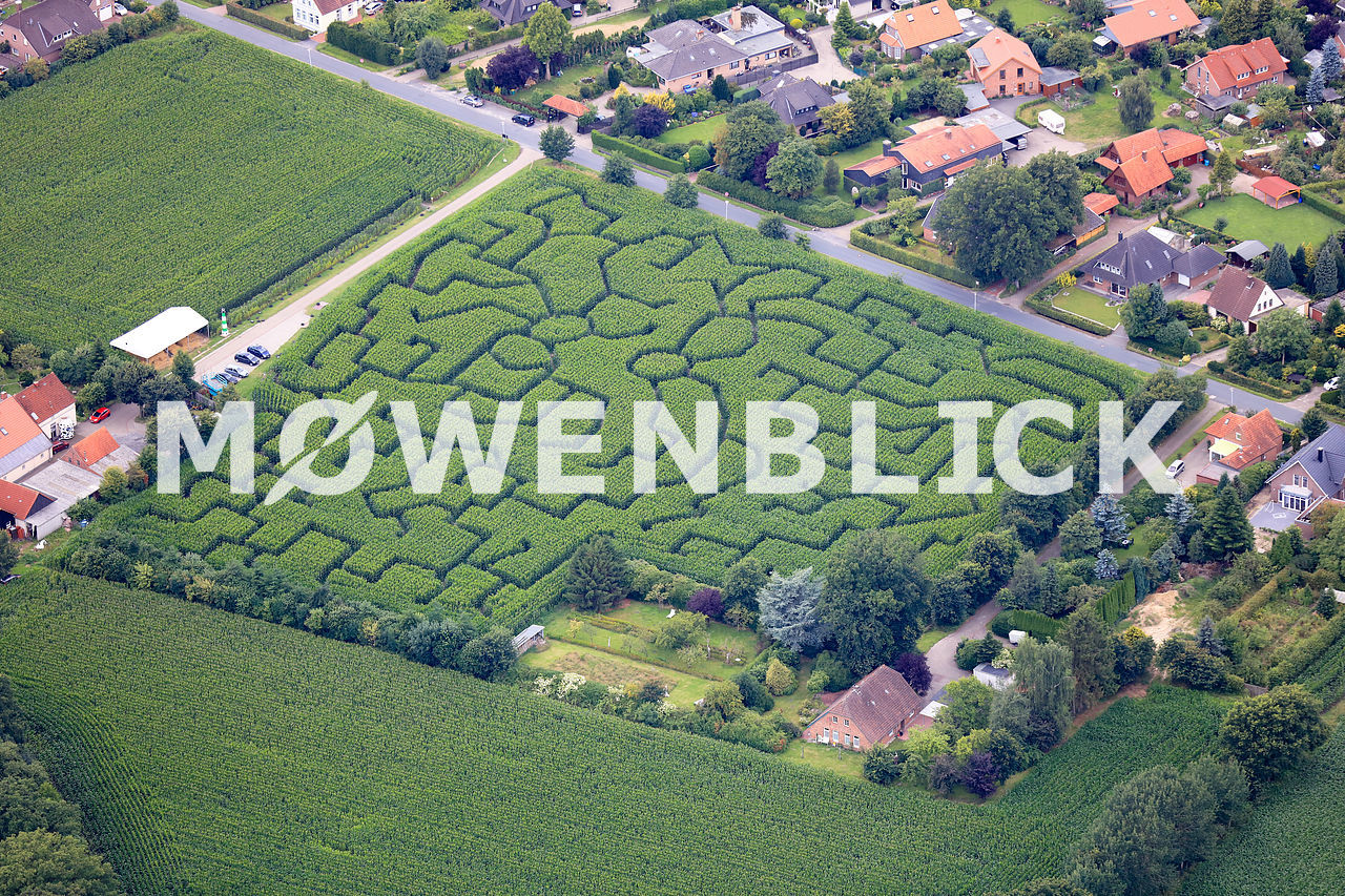 Maislabyrinth Sackhofsweg Luftbild