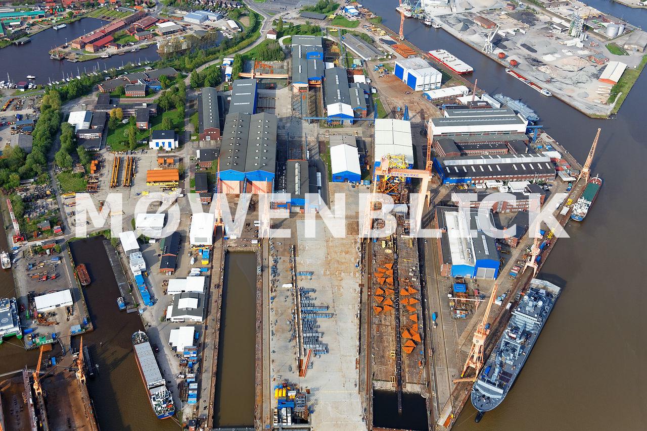 Nordseewerke Emden Luftbild
