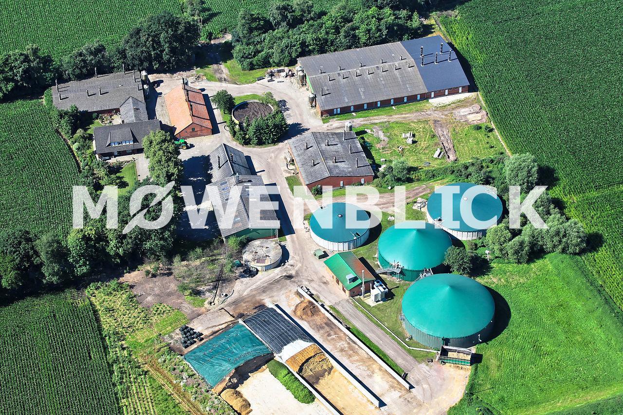 Biogasanlagen Luftbild