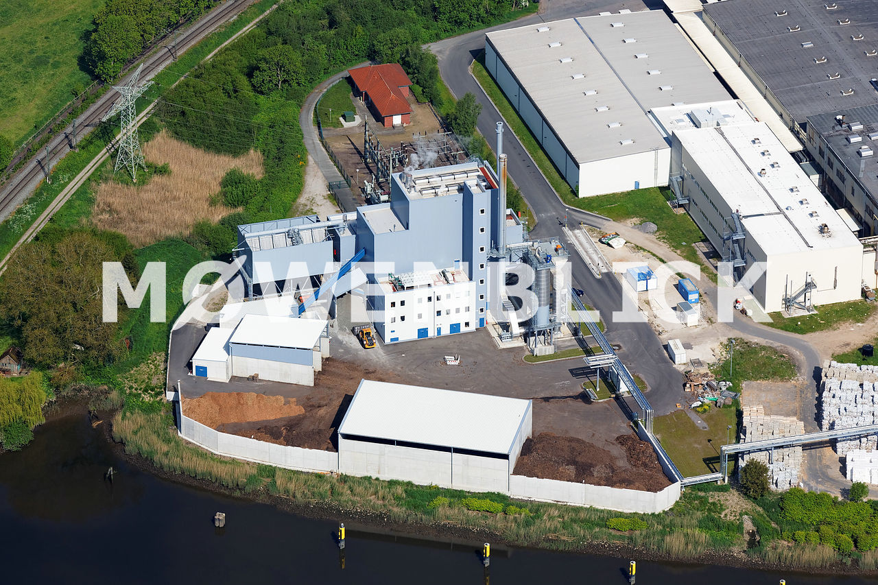 Biomasse Kraftwerk Elsfleth Luftbild
