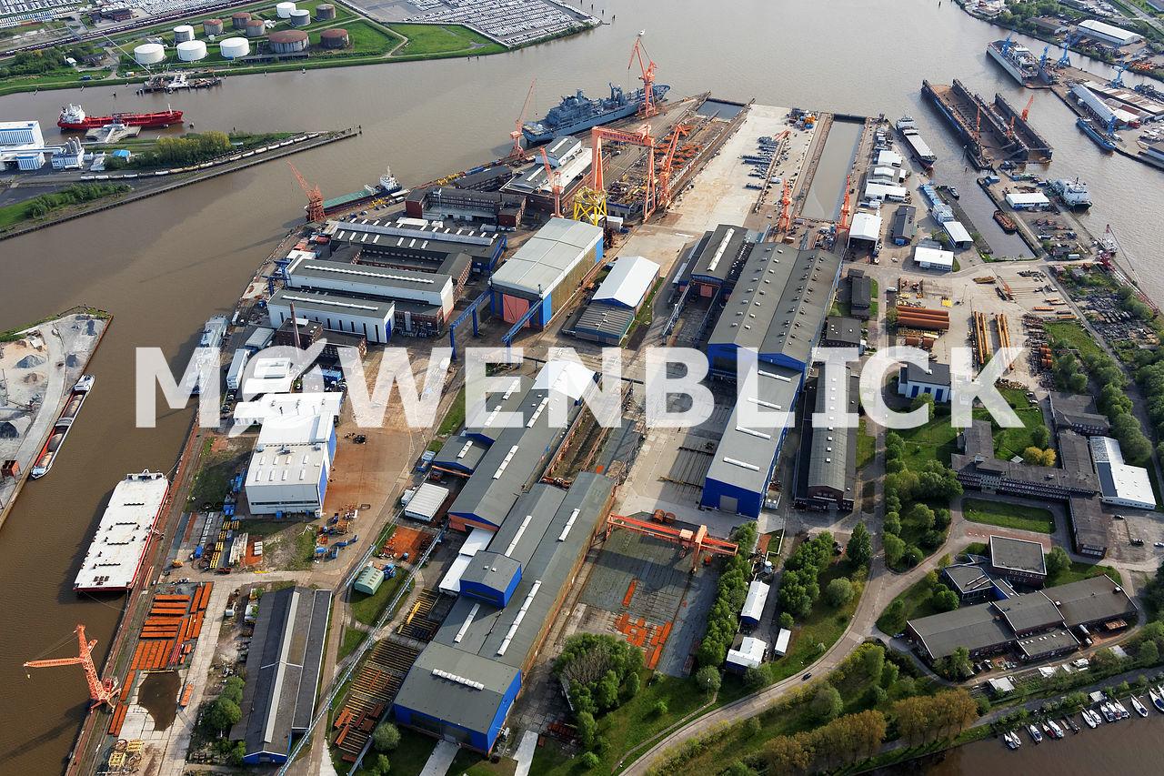 Emder Nordseewerke Luftfoto Luftbild