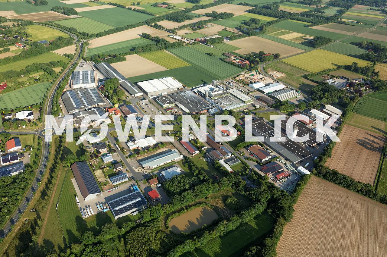 Gewerbegebiet Visbek Luftbild