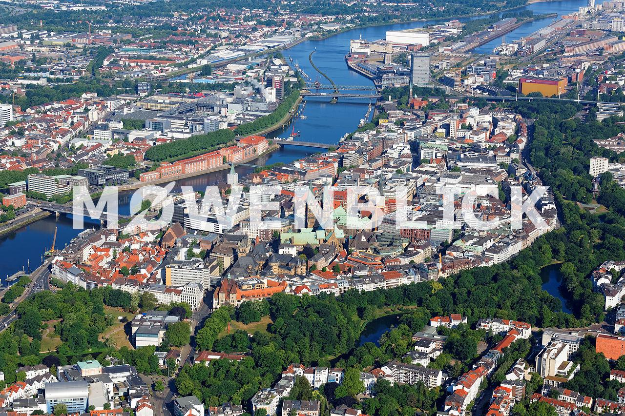 Bremen Mitte Luftbild