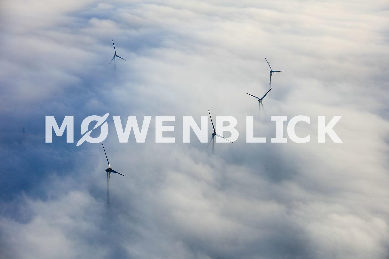 Windmühlen Repowering Luftbild