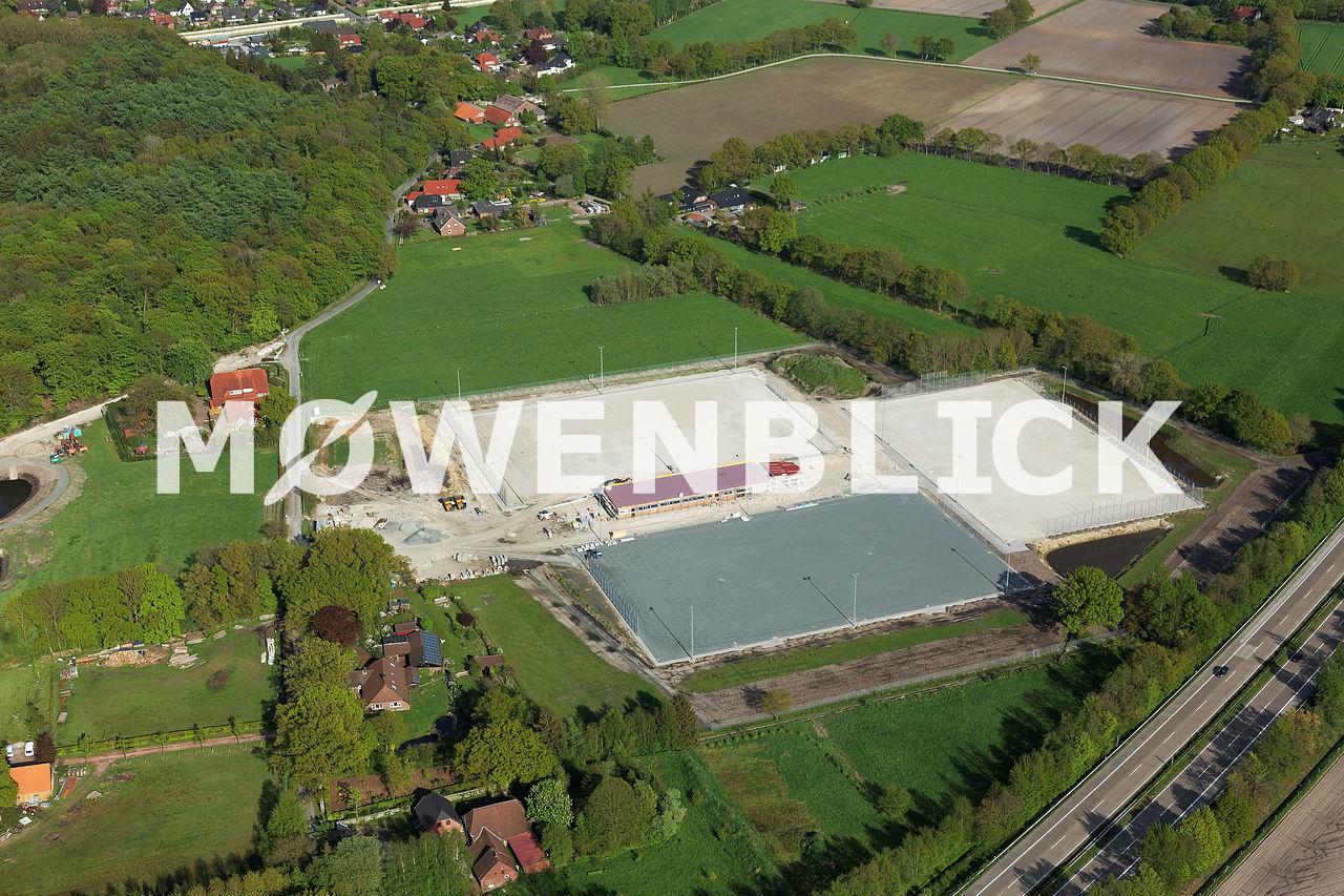 Sportplatzbau Rastede Luftbild