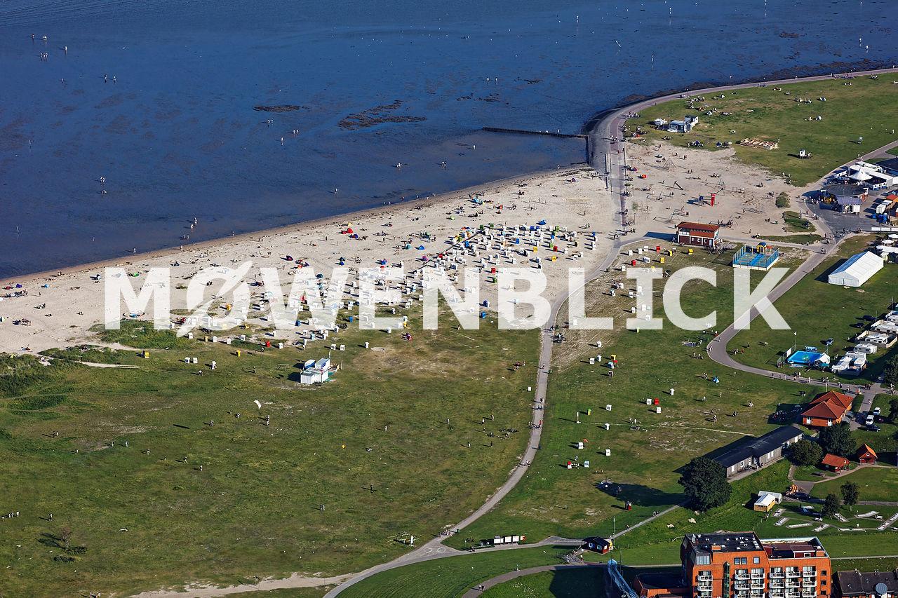 Strand in Schillig Luftbild