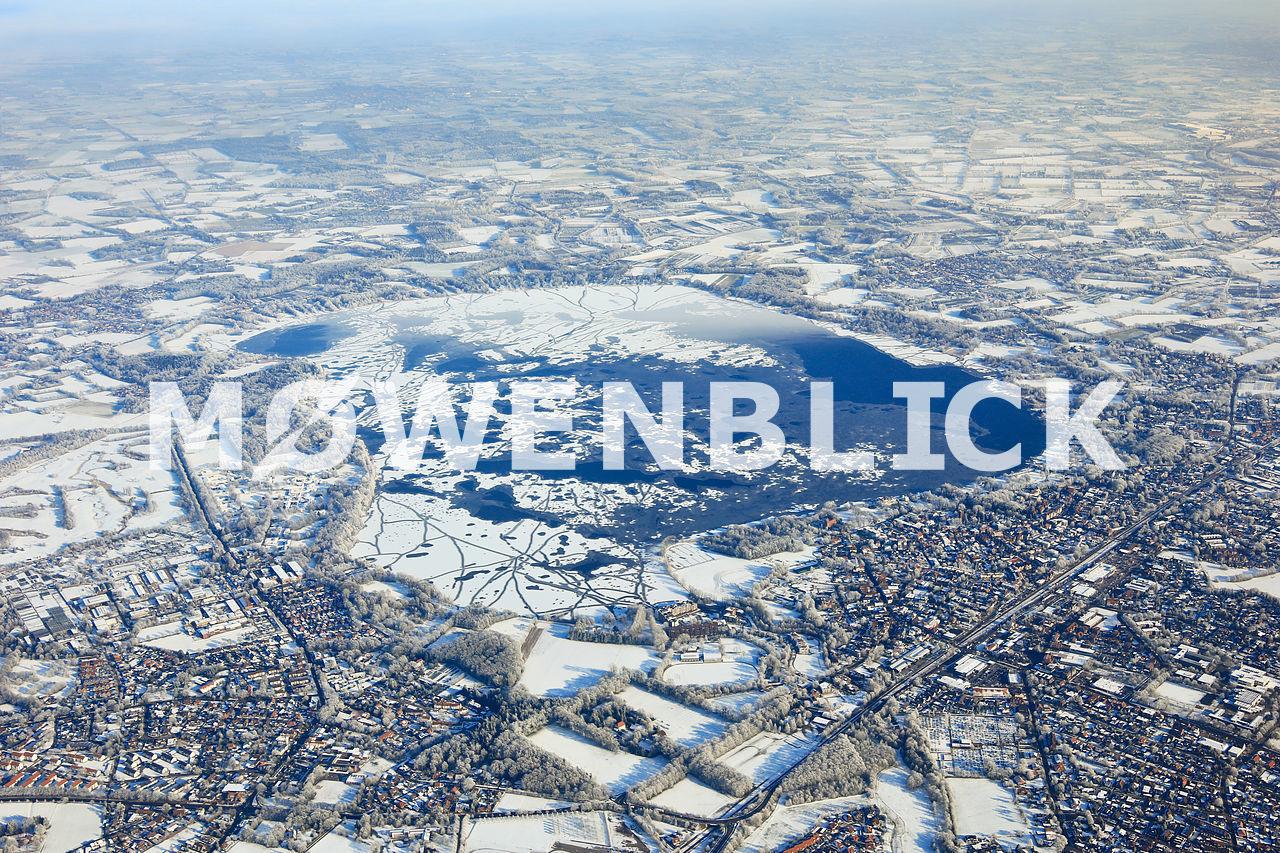 Zwischenahner Meer gefroren Luftbild