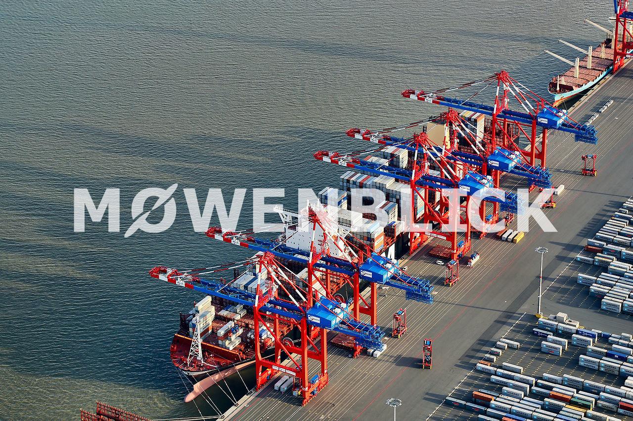 Kräne am JWP Luftbild