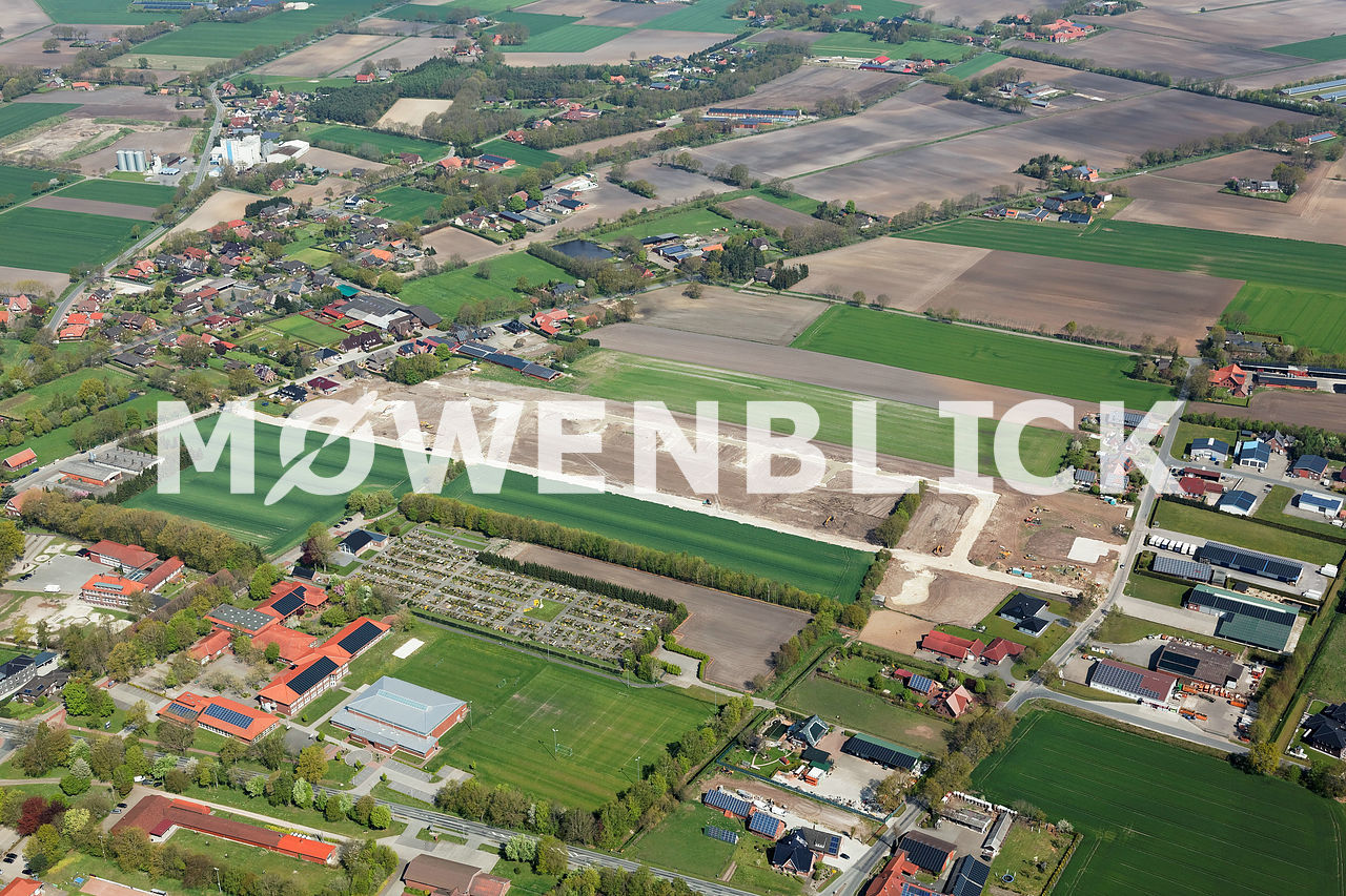 Baugebiet Bösel Luftbild