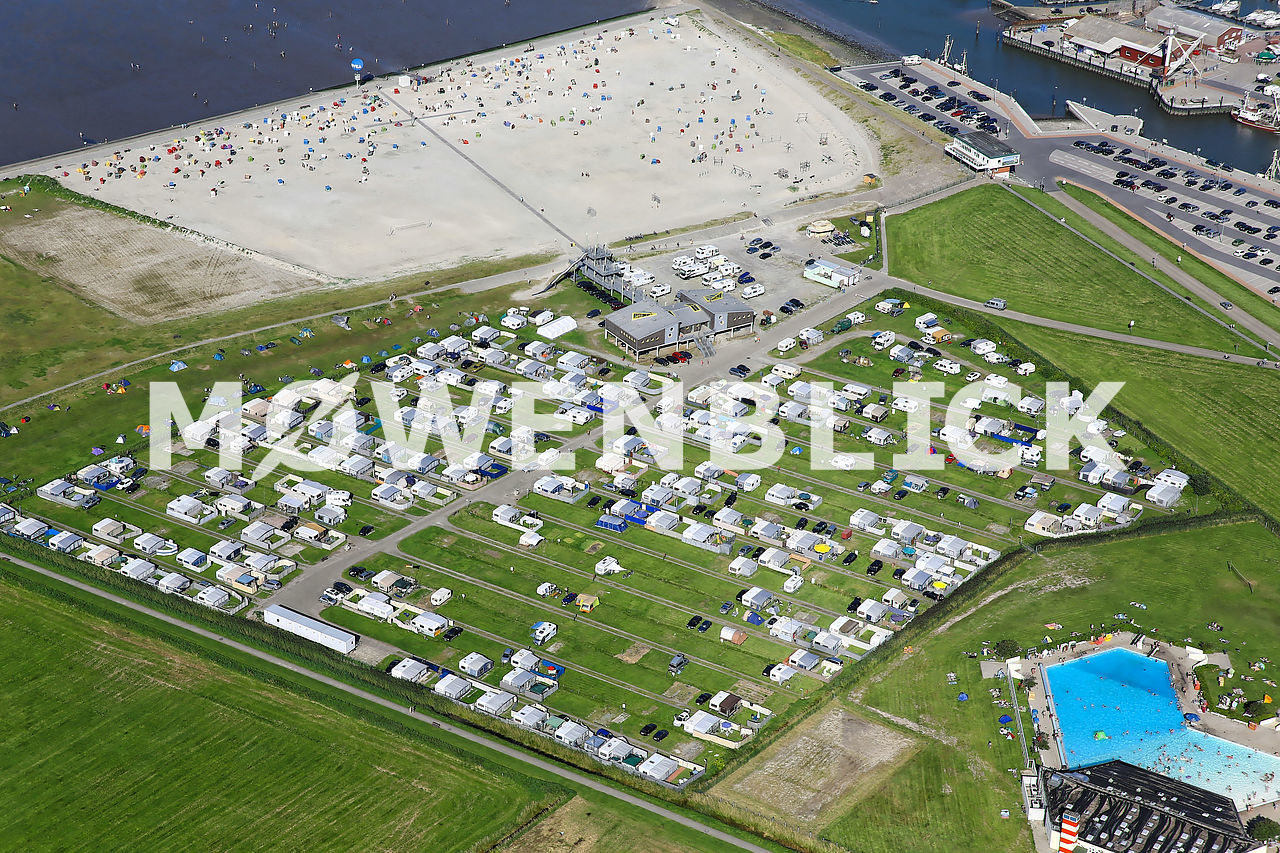 Campingplatz am Nordseestrand Luftbild