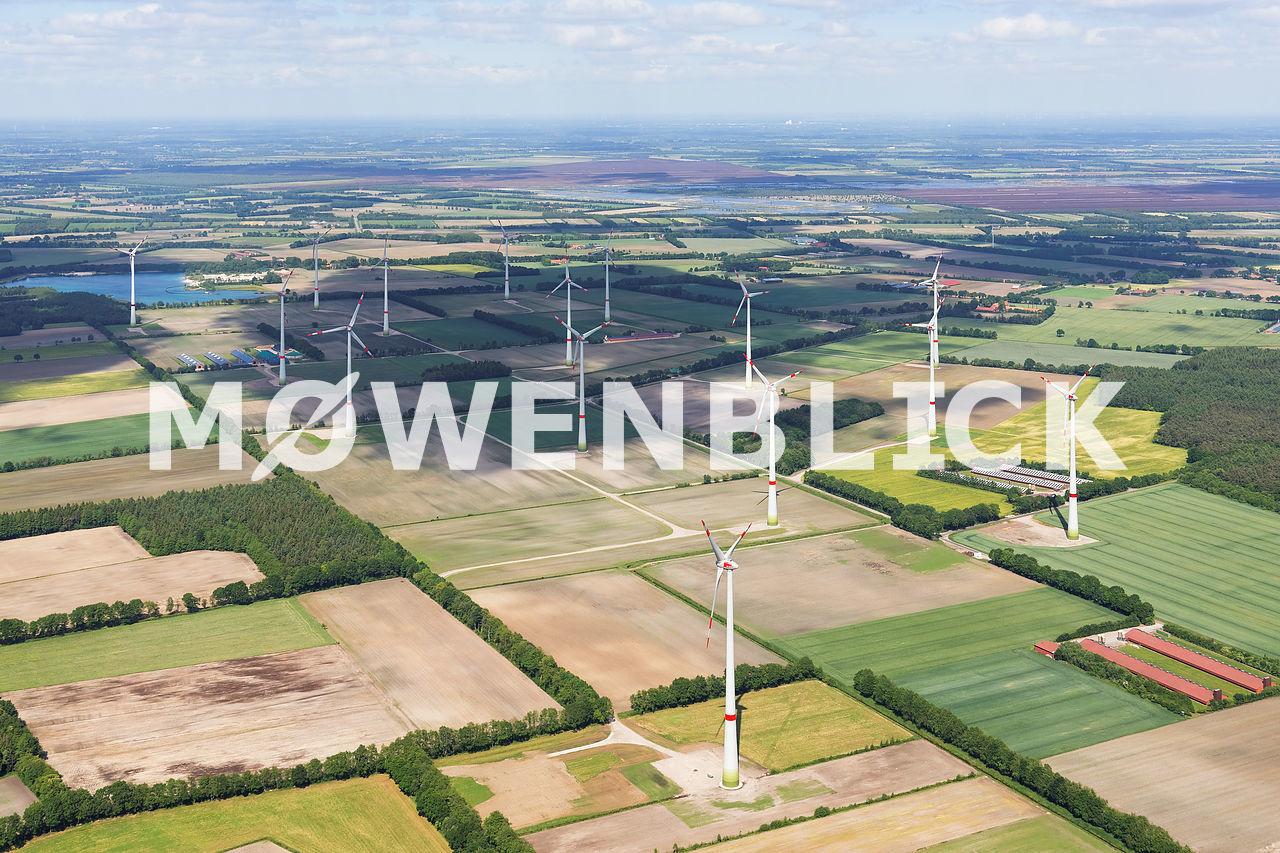 Windpark Kühnemoor Luftbild