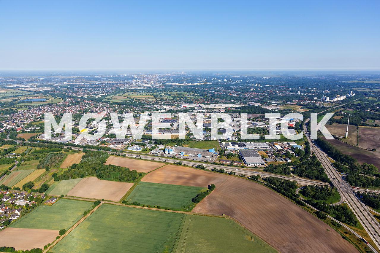 Gewerbegebiet Bremer Kreuz Luftbild