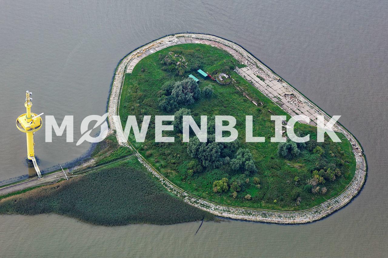 Langlütjen Wattinsel Luftbild