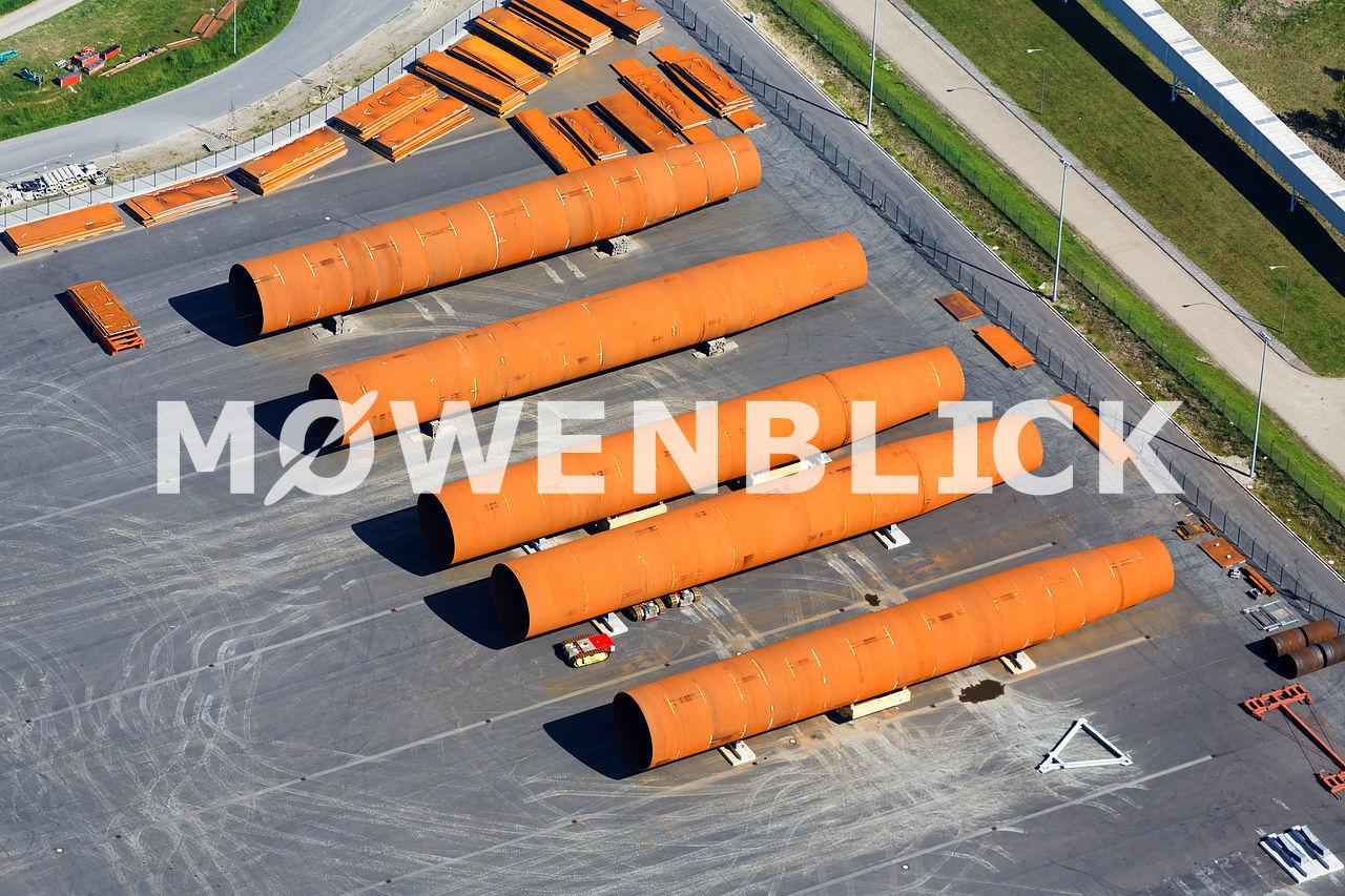 Monopiles Steelwind Luftbild