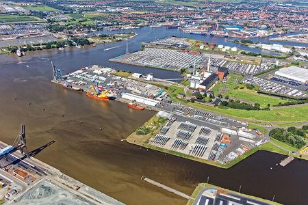 Luftaufnahme Stadt Emden
