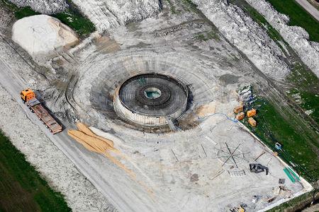 Luftaufnahme Stadt Brake